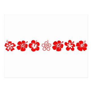 Red Hibiscus Theme Postcard