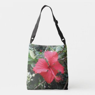 Red Hibiscus Tote