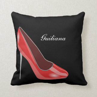 Red High Heel Cushion