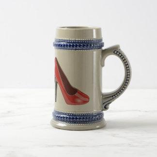 Red High Heel Coffee Mugs