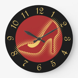 Red High Heel Pump Large Clock
