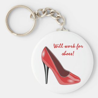 Red High Heel Shoe Keychain