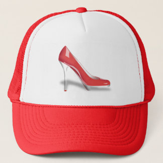 RED HIGH HEEL SHOE Trucker Hat