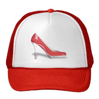RED HIGH HEEL SHOE Trucker Hat