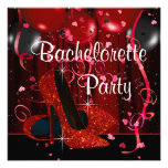 Red High Heel Shoes Red Bachelorette Party Personalised Invitations