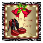 Red High Heel Shoes Red Zebra Christmas Party Personalised Announcement