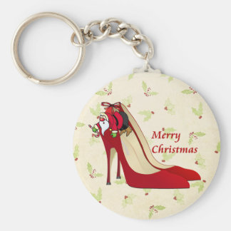Red High Heel Shoes / Santa Elf Key Ring