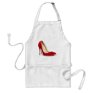 red high heel shoes standard apron