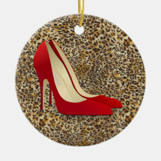 red high heels christmas ornament