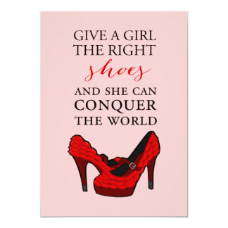 "Red High Heels Stiletto Fashion BirthdayInvitation 5"" X 7"" Invitation Card"