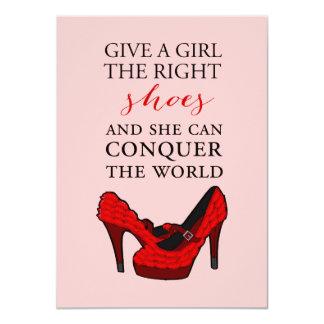 Red High Heels Stiletto Fashion BirthdayInvitation 11 Cm X 16 Cm Invitation Card
