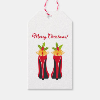 Red High Heels with Christmas Bells