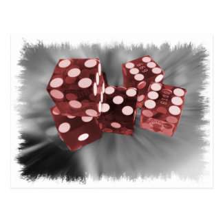 Red High Roller Dice Las Vegas Post Cards