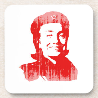 Red Hillary Faded.png Beverage Coasters