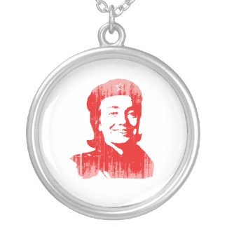 Red Hillary Faded.png Necklace
