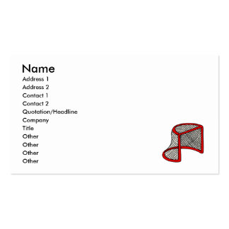 Red hockey goal pack of standard business cards