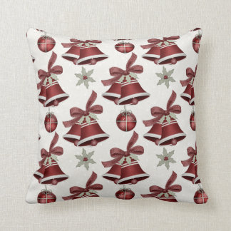 Red Holiday Bells Christmas Holiday Pillow d3