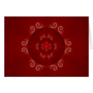 Red Holiday Bulb Greeting Card