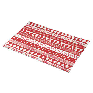 "Red Holiday Cloth Placemats  20"" x 14"""