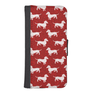 Red Holiday Dachshunds iPhone SE/5/5s Wallet Case