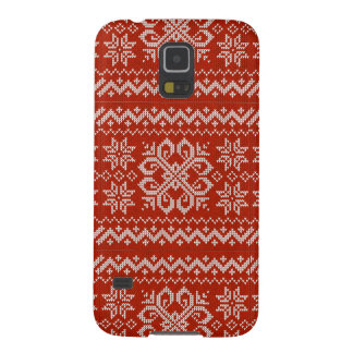 Red Holiday Embroidery Galaxy S5 Cover