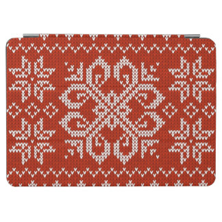 Red Holiday Embroidery iPad Air Cover