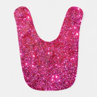 Red Holiday Glitter Sparkly Girly Baby Bib Gift