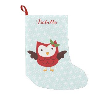 Red Holiday Owl Personalised