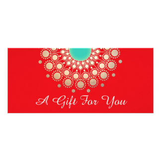Red Holiday Salon and Spa Gift Certificate Personalised Rack Card