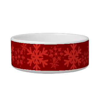 Red Holiday Snowflake Pet Bowl