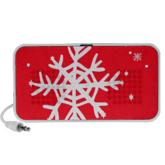Red Holiday Snowflakes Art by Sharles Travel Speaker