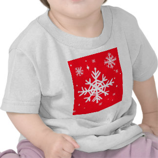 Red Holiday Snowflakes Art by Sharles Tee Shirt
