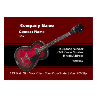 Red HollowBody Guitar Pack Of Chubby Business Cards
