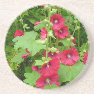 Red Hollyhocks - Coasters