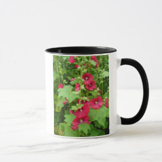 Red Hollyhocks Mug