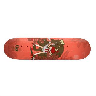 red hood 18.1 cm old school skateboard deck