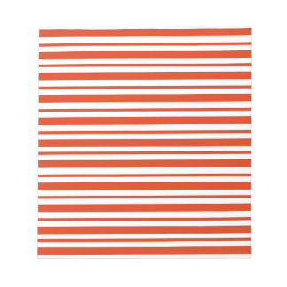 Red Horizontal Pinstripe Notepad