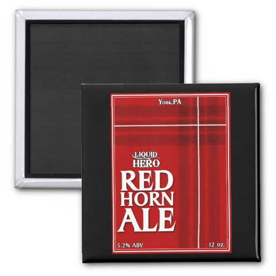 Red Horn Ale Label Magnet