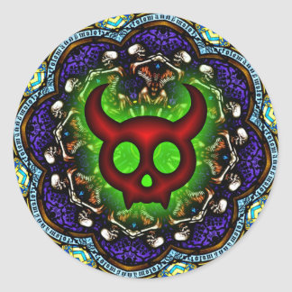 Red Horned Devil s Dance Macabre Sticker