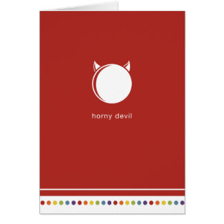 Red | Horny Devil Card
