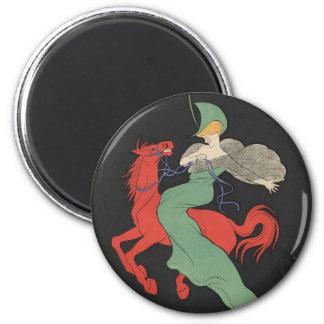 Red Horse 6 Cm Round Magnet