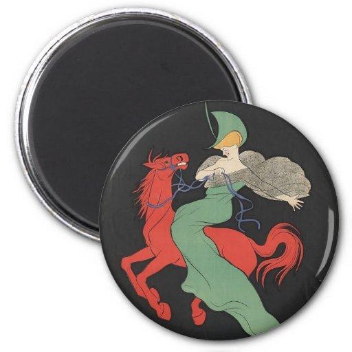 Red Horse Refrigerator Magnet