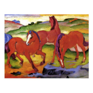 Red Horses by Franz Marc Postcard