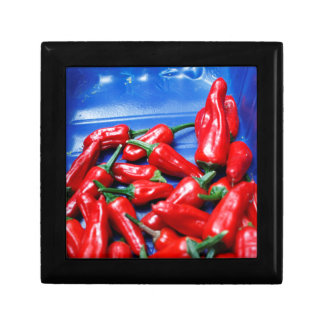 Red hot and blue: chilli peppers gift box