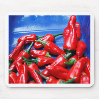 Red hot and blue: chilli peppers mouse pad