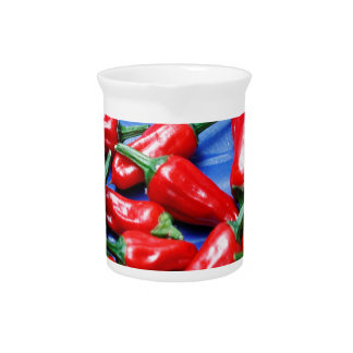 Red hot and blue: chilli peppers pitcher