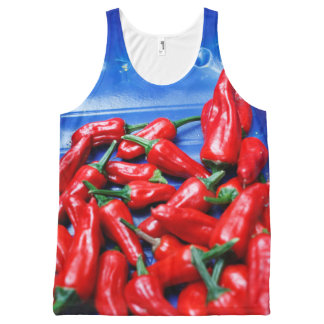 Red, hot and blue chillies All-Over print tank top