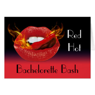 Red Hot Bachelorette Bash Invitation Greeting Card