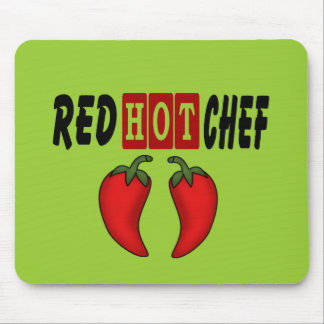 Red Hot Chef (Red Peppers) Mouse Mat