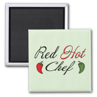 Red Hot Chef Square Magnet